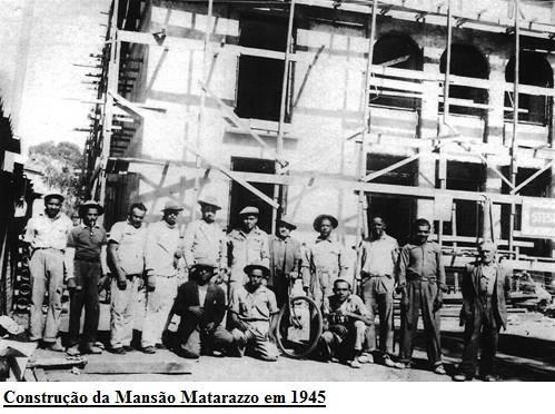 Construção da Mansão Matarazzo em 1945